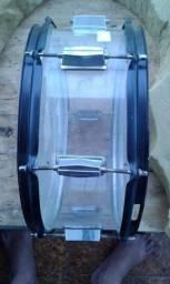 Caixa de bateria em acrilico transparente 14x5,5 Maravilhosa !