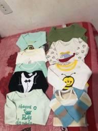 Roupinhas de bebê marculino: RN e P