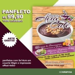 Oferta de Panfletos MDGRÁFICA com Arte Grátis!