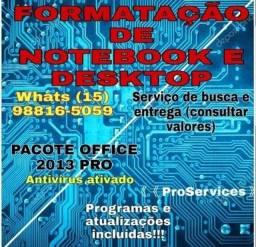 Formatação De Notebook e PC