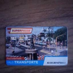 Cartão de passe JTU com R$ 282,00