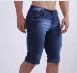 Bermuda jeans com Lycra