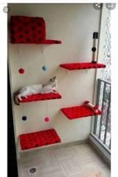 Conjunto de prateleiras para gatos