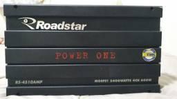 Módulo Roadstar Power One Rs-4510 De 2.400 Watts 4 Canais
