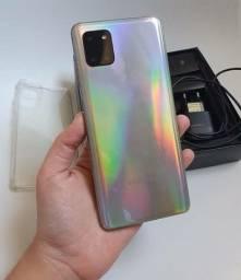 Galaxy Note 10 lite na caixa