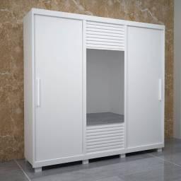 Título do anúncio: Roupeiro Luxo 100% MDF, com Espelho, 3 portas de correr.