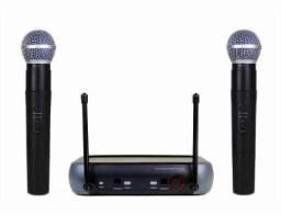 Kit Microfone Sem Fio Duplo Weisre no PGX-51 UHF Profissional Bivolt 110 ou 220v ??: