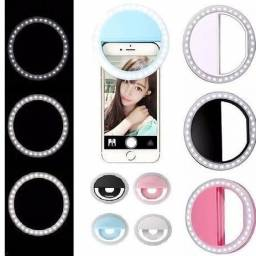 Iluminação para selfie ring light celular portátil