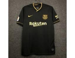 Camisa do Barcelona II 2021 - Preta
