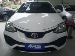 Título do anúncio: Toyota Etios SD X 1.5 2018- flex/gnv - IPVA 2021 PAGO/Ent.+48× 975,37