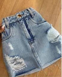 jeans no atacado Mini saia e saia midi