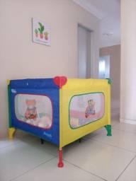 Cercadinho Playground Burigotto e carrinho de bebê