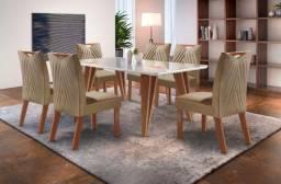 Mesa 6 Cadeiras Tampo de Vidro ÚLTIMAS UNIDADES !!!