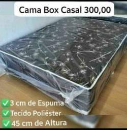 Vendo cama box casal ortopedica 3 cm