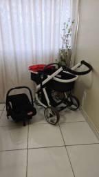 Carrinho de Bebê Compacto + Moises
