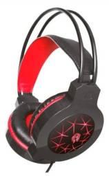 Headset Gamer Luz LED Microfone Embutido HF2200