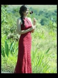 Vestido de luxo brilhoso ( festa)
