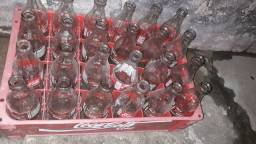 03 Caixas Coca-Cola garrafas vazias