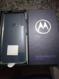 Samsung Motorola one fusion azul indico