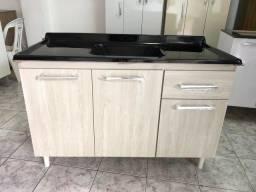 Pia de cozinha padrão 1,20m com tampo