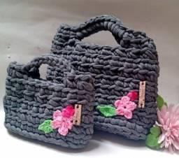 Bolsa de croche Mae e filha