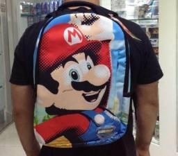 Mochila escolar Nintendo Mario Bros ps3 ps4 xbox. Tem jogo parado em perfeito estado?