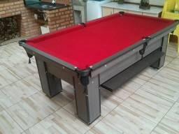 Mesa de 4 pés da Cor Dakar com Tecido Vermelho Mod LAMN2913