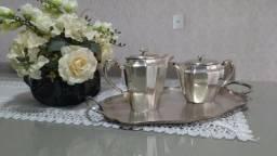 Conjunto café em prata antiga Meridional
