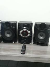 Mini System Samsung 190 W Karaokê Recurso Futebol e Giga Sound - MXF630