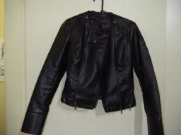 Jaqueta Maravilhosa de couro preta