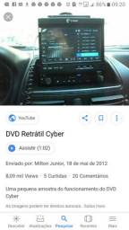 Dvd automotivo Tela retrátil Cyber