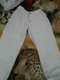 Calça branca masculino infantil