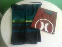Kit com 5 Bermuda Elastano + 5 Camisa, R$ 250,00