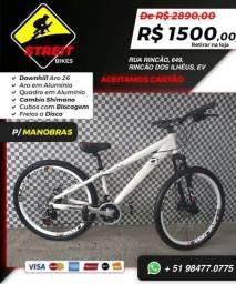 Bicicleta Downhill Aro 26 para Manobras
