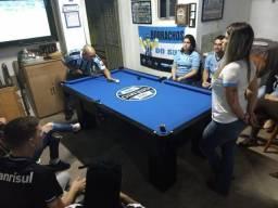 Mesa Frete Grátis | Mesa Preta | Tecido Azul | Grêmio | Modelo: JHAK5349