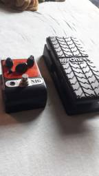 Pedal de wah wah Onerr / pedal de distorção Nig