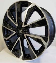 Jogo de roda Esportiva Novo corolla Hibrido Touring aro 20 roda zk880 oferta na leopneus