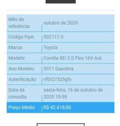 COROLLA XEI 2.0 Completo