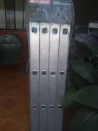 Escada dobrável 16 degraus de alumínio
