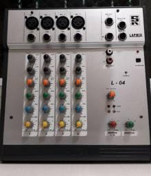 Mesa som Staner 4 canais XLR + Phantom + Fonte