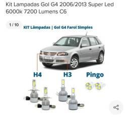 LED automotivo C6 com ventoinha