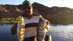 Rancho c/Casa 4Suítes no Lago de Serra da Mesa, Top P/Pesca!!Aceito Carro