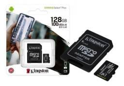 Cartão De Memória Kingston Canvas Select Plus 128gb 100mb/s Promoção!