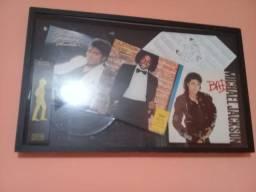 Quadro de relíquias do Michael Jackson