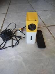 Mini Projetor Portátil Full Hd Led 600 Lumens Usb Sd Hdmi<br>