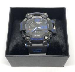Relógio Casio G-shock GA-700 Com Pulseira Preta e Caixa Azul Com Garantia Produto Novo