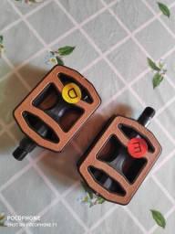 Pedal de bicicleta marrom retrô vintage novo e original rosca grossa 9/ 16