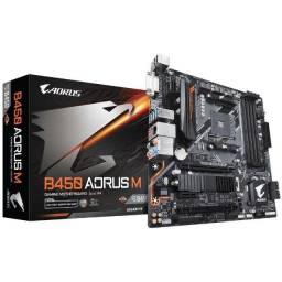 Placa Mãe Gigabyte Aorus B450 Aorus M, AMD, AM4, mATX, DDR4 ou 12X R$ 64,72
