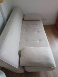 Sofá cama bege