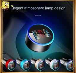 Título do anúncio:  Dual USB para Viatura carregador com LED Universal Mobile Phone Carregadores de carro
